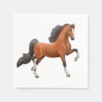 Bay American Saddlebred Horse Napkins