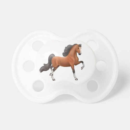 Bay American Saddlebred Horse Pacifier