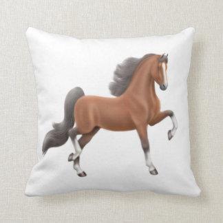 Bay American Saddlebred Horse Pillow