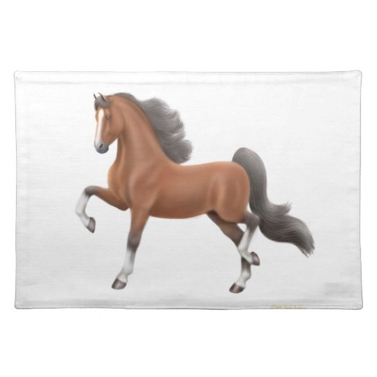 Bay American Saddlebred Horse Placemat