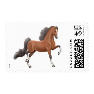 Bay American Saddlebred Horse Postage