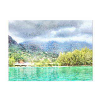Bay and greenery canvas print