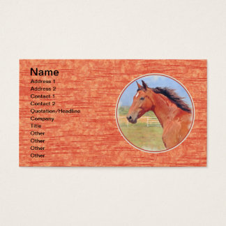 BAY ANDALUSIAN MARE BUSINESS CARD