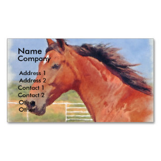 BAY ANDALUSIAN MARE MAGNETIC BUSINESS CARD