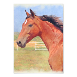 BAY ANDALUSIAN MARE MAGNETIC CARD