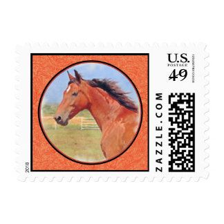 BAY ANDALUSIAN MARE STAMP