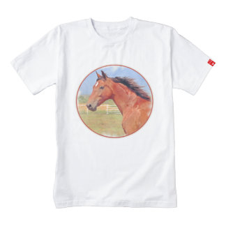 BAY ANDALUSIAN MARE ZAZZLE HEART T-Shirt