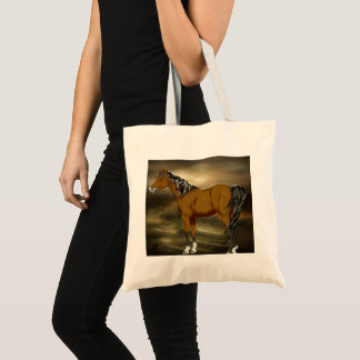 Bay Arabian Horse Print Tote Bag