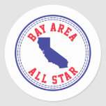 Bay Area All Star Round Stickers