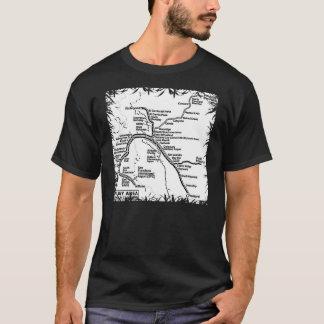 Bay Area Bart Train Map (B/W) T-Shirt