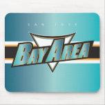 Bay Area Black & Teal SJ Mousepad