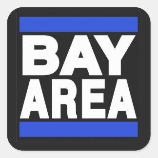 Bay Area Blue Square Sticker