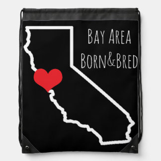 Bay Area Born&Bred Drawstring Drawstring Bag