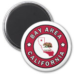 Bay Area California 2 Inch Round Magnet