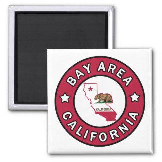 Bay Area California 2 Inch Square Magnet