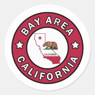 Bay Area California Classic Round Sticker