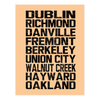 Bay Area East Bay Postcard