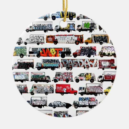 Bay Area Graffiti Trucks Ceramic Ornament