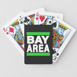 Bay Area Green Bicycle Playing Cards