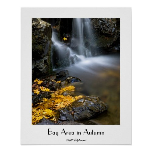 Bay Area in Autumn Poster with Customizable Title