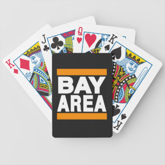 Bay Area Orange Bicycle Playing Cards