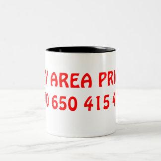 BAY AREA PRIDE!510 650 415 408 Two-Tone COFFEE MUG
