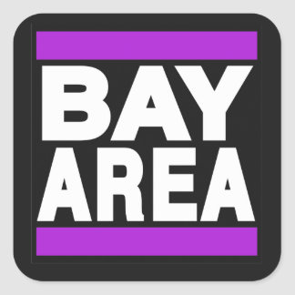 Bay Area Purple Square Sticker