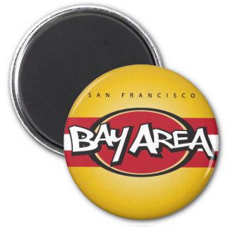 Bay Area Red & Gold Magnet Refrigerator Magnet