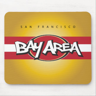 Bay Area Red Gold Mouse Pad