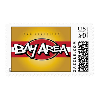 Bay Area Red & Gold Postage