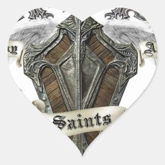 Bay Area Saints Gear Heart Sticker