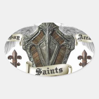 Bay Area Saints Gear Oval Sticker