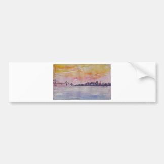 Bay Area Skyline San Francisco With Oakland Bridge Bumper Sticker