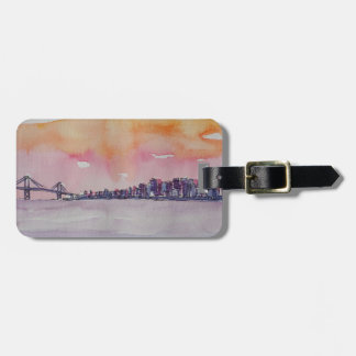 Bay Area Skyline San Francisco With Oakland Bridge Luggage Tag
