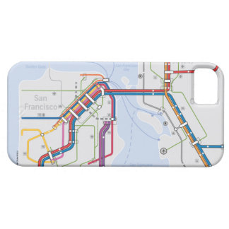 Bay Area Transit Map - San Francisco-Oakland iPhone 5 Covers