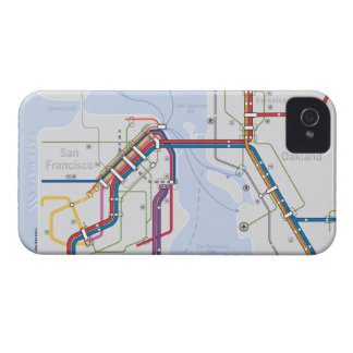 Bay Area Transit Map - San Francisco-Oakland iPhone 4 Case-Mate Case
