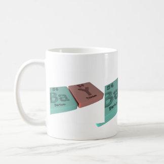 Bay as Ba Barium and Y Yttrium Coffee Mugs