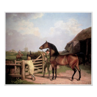 """""""Bay Ascham"""", A Stallion led to a Mare, 1804 Posters"""