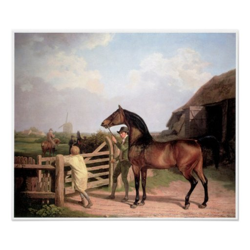 """Bay Ascham"", A Stallion led to a Mare, 1804 Posters"