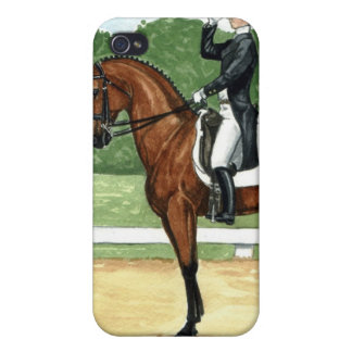 Bay at Halt, Dressage iPhone 4 Covers