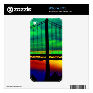 Bay Bridge Abstract Decal For The iPhone 4S