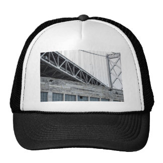 Bay Bridge and Building at Pier 26 Trucker Hat