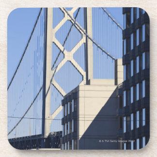 Bay Bridge and Buildings, San Francisco Beverage Coaster