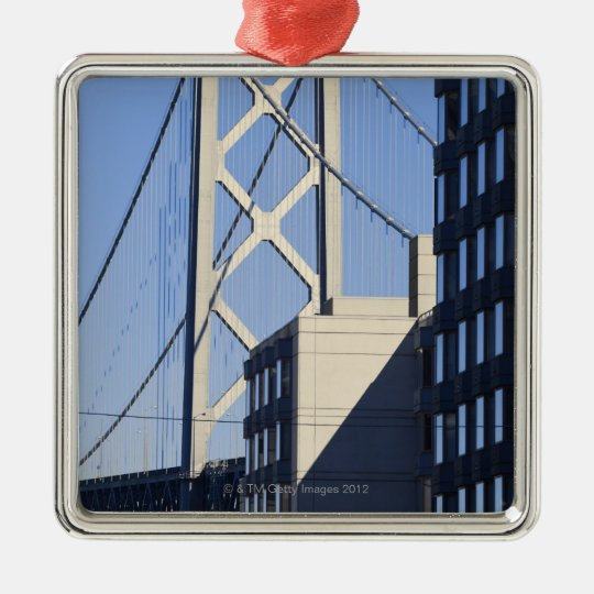 Bay Bridge and Buildings, San Francisco Metal Ornament