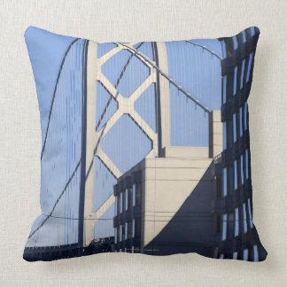 Bay Bridge and Buildings, San Francisco Throw Pillow