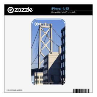 Bay Bridge and Buildings, San Francisco Skin For iPhone 4S