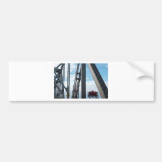 Bay Bridge and Construction Bumper Sticker