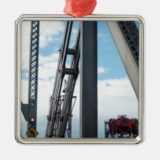 Bay Bridge and Construction Metal Ornament