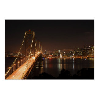 Bay Bridge and San Francisco City Skyline Print