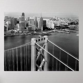 BAY BRIDGE and SAN FRANCISCO SKYLINE 1998 Poster